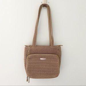 Frankie & Johnnie Crochet/woven Handbag in Tan